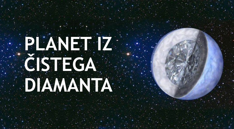 Planet, zgrajen iz čistega diamanta
